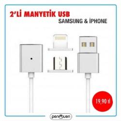 2'Lİ MANYETİK USB