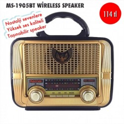 MS-1905BT WİRELESS SPEAKER