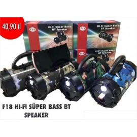 F18 HI-FI SÜPER BAS BT SPEAKER