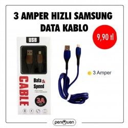 3 AMPER HIZLI SAMSUNG DATA CABLE