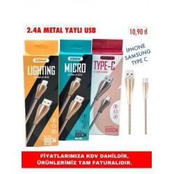 2.4A METAL YAYLI USB