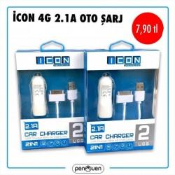 İCON 4G 2.1A OTO ŞARJ