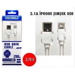 2.1A İPHONE ŞİMŞEK USB