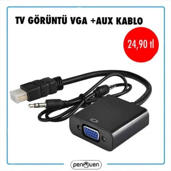 TV GÖRÜNTÜ VGA+AUX KABLO
