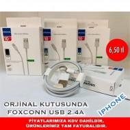 ORJİNAL KUTUSUNDA FOXCONN USB 2.4A İPHONE
