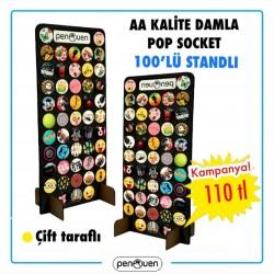 AA KALİTE DAMLA POP SOCKET 100 ADET