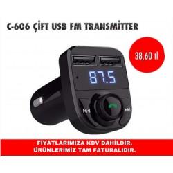 C-606 ÇİFT USB FM TRANSMİTTER
