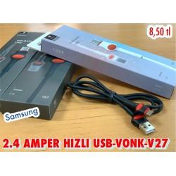 2.4 AMPER HIZLI USB - VONK - SAMSUNG