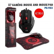 X7 GAMİNG MOUSE AND MOUSE PAD