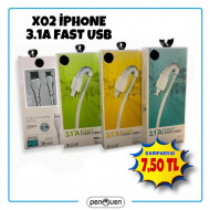 X02 PRO İPHONE 3.1A FAST DATA USB