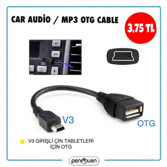 CAR AUDİO / MP3 OTG CABLE