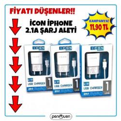 İCON İPHONE 2.1A ŞARJ ALETİ