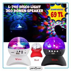 L-740 DİSCO LİGHT 360 DÖNEN SPEAKER