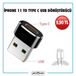 İPHONE 11 TO TYPE C USB DÖNÜŞTÜRÜCÜ