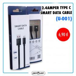 U-001 2.4 AMPER TYPE C SMART DATA CABLE