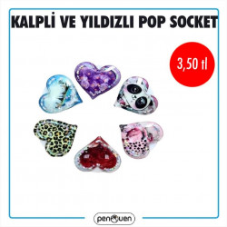 KALPLİ VE YILDIZLI POP SOCKET