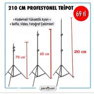 210 CM PROFESYONEL TRİPOD