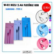 W-02 HIZLI 2.4A FLEXİBLE USB