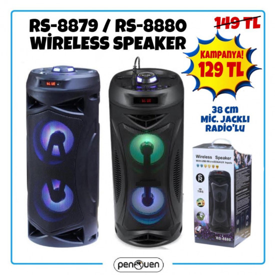 RS-8879 RS-8880 WİRELESS SPEAKER