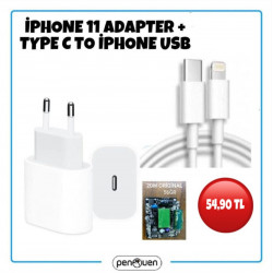 İPHONE 11 ADAPTER+TYPE C TO İPHONE USB