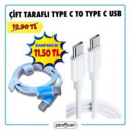 ÇİFT TARAFLI TYPE C TO TYPE C USB