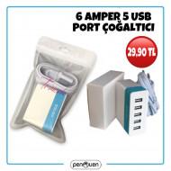 6 AMPER 5 USB ÇOĞALTICI