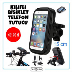 KILIFLI BİSİKLET TELEFON TUTUCU