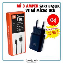 Mİ 3 AMPER ŞARJ BAŞLIK VE Mİ MİCRO USB