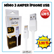 MİMO 3 AMPER İPHONE USB