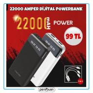 22000 AMPER DİJİTAL POWERBANK