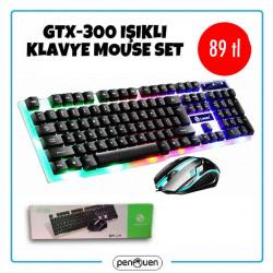 GTX-300 IŞIKLI KLAVYE MOUSE SET