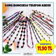 LONG BONCUKLU TELEFON ASKISI