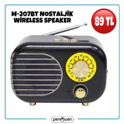M-207BT NOSTALJİK WİRELESS SPEAKER