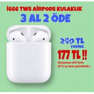 3 ADET İ666 TWS AİRPODS KULAKLIK 177