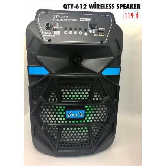 QTY-612 WİRELESS SPEAKER