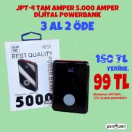 3 AL 2 ÖDE JPT-4 TAM AMPER 5.000 AMPER DİJİTAL POWERBANK 99 TL