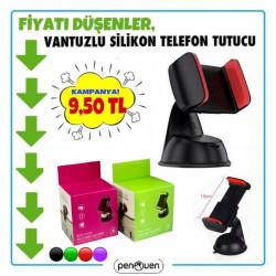 VANTUZLU SİLİKON TELEFON TUTUCU