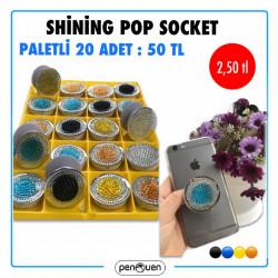 SHİNİNG POP SOCKET 20 ADET PALETLİ