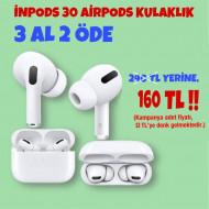 3 ADET İNPODS 30 AİRPODS KULAKLIK 160TL