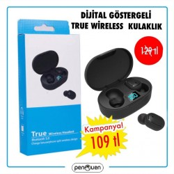 DİJİTAL GÖSTERGELİ TRUE WİRELESS KULAKLIK