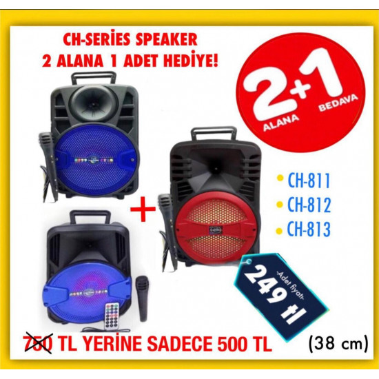 CH SERİES 3 ADET KAMPANYA WİRELESS SPEAKER