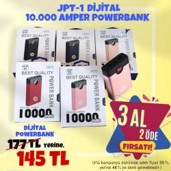 3 AL 2 ÖDE JPT-1 RENKLİ 10000 AMPER DİJİTAL POWERBANK