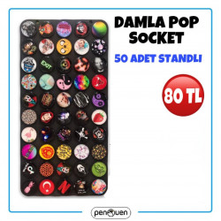 DAMLA POP SOCKET 50 ADET STANDLI