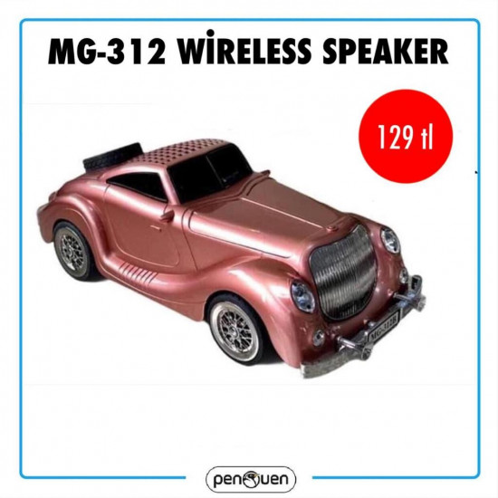MG-312 WİRELESS CAR SPEAKER