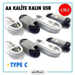 AA KALİTE KALIN USB-TYPE C