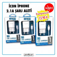 İCON İPHONE 2.1A ŞARJ ALETİ