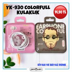 YK-930 COLORFULL STEREO KULAKLIK