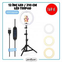12 İNÇ LED 210 CM LED TRİPOD