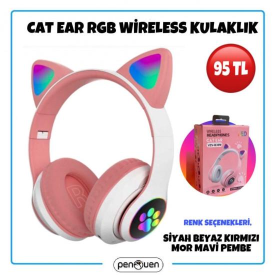 CAT EAR RGB WİRELESS KULAKLIK