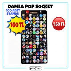 DAMLA POP SOCKET 100 ADET STANDLI